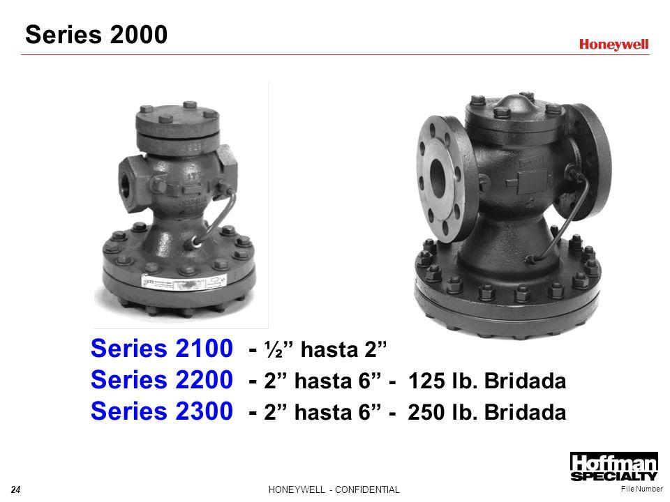 Series 2000 Series 2100 - ½ hasta 2 - NPT. Series 2200 - 2 hasta 6 - 125 lb.