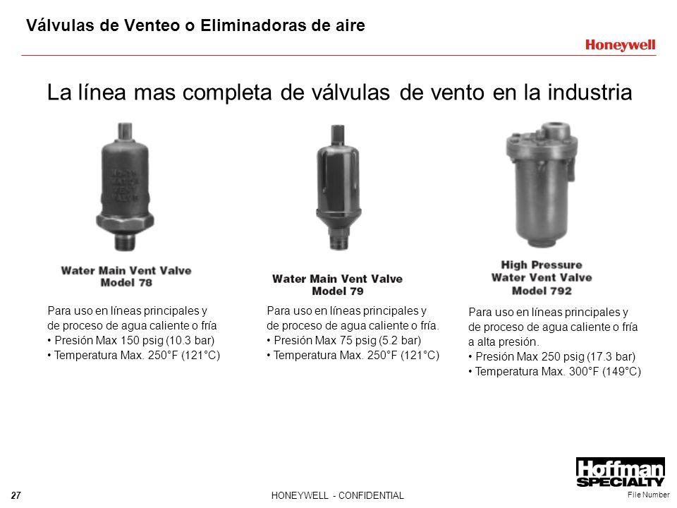 Válvulas de Venteo o Eliminadoras de aire