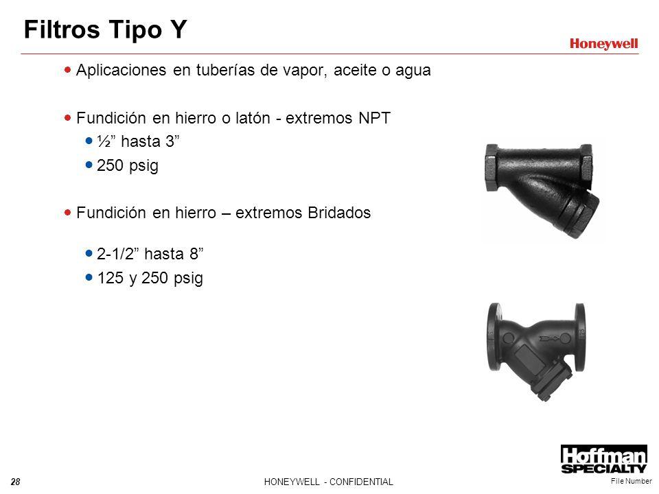 Filtros Tipo Y Aplicaciones en tuberías de vapor, aceite o agua
