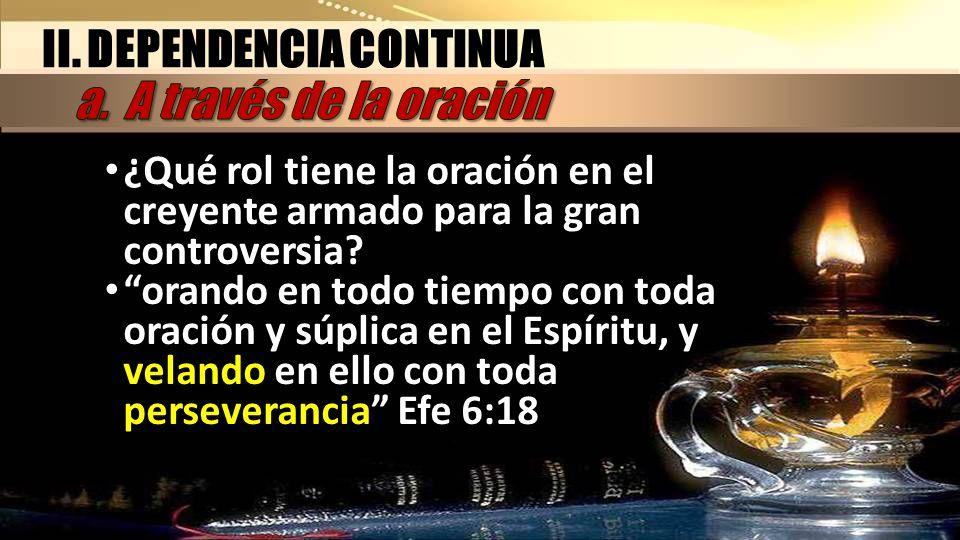 II. DEPENDENCIA CONTINUA a. A través de la oración