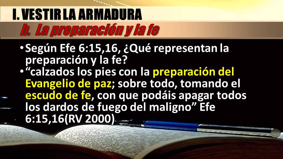 I. VESTIR LA ARMADURA b. La preparación y la fe
