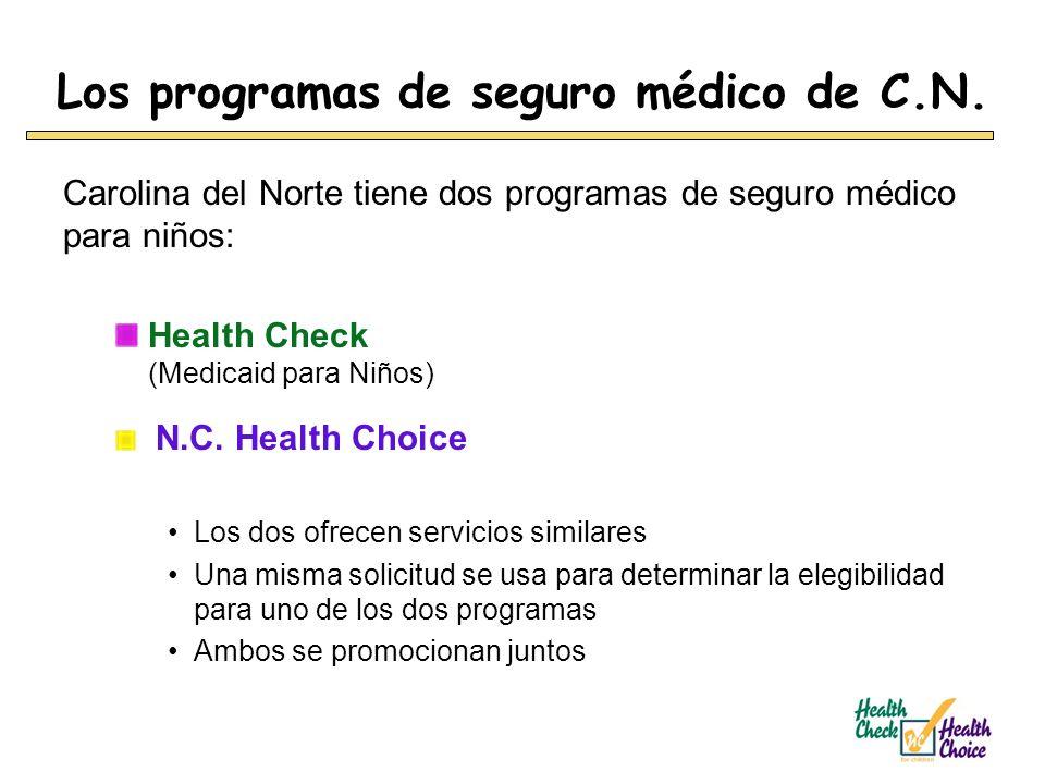 Los programas de seguro médico de C.N.