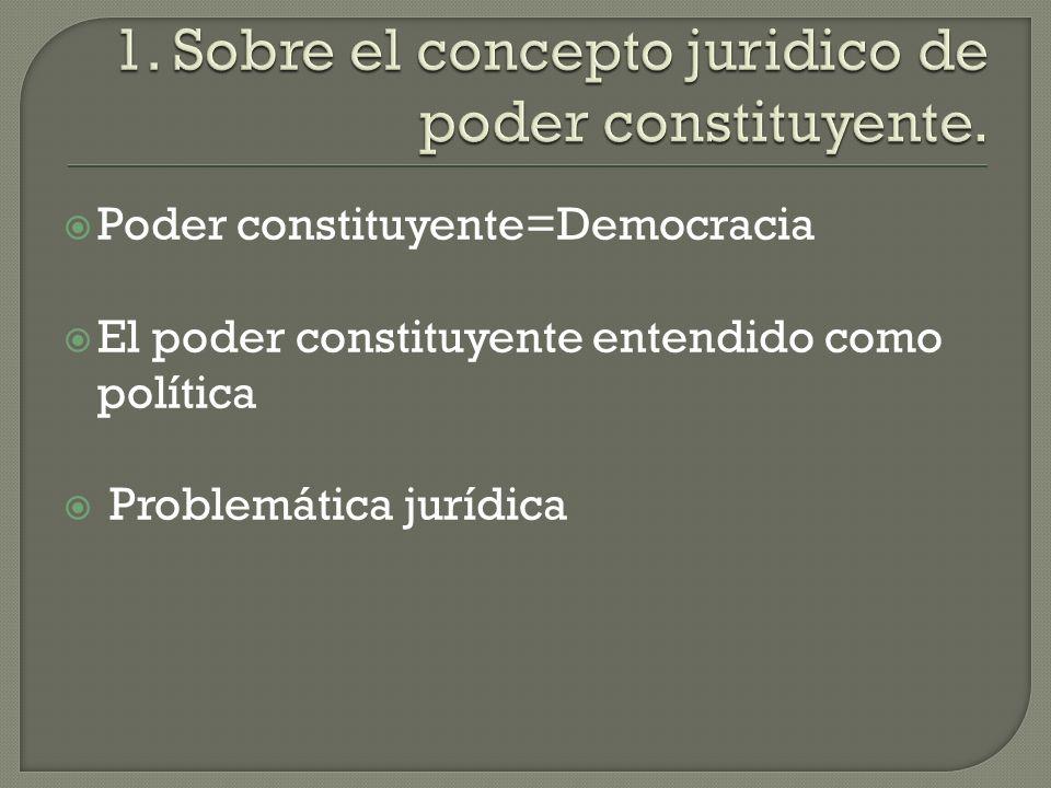 1. Sobre el concepto juridico de poder constituyente.