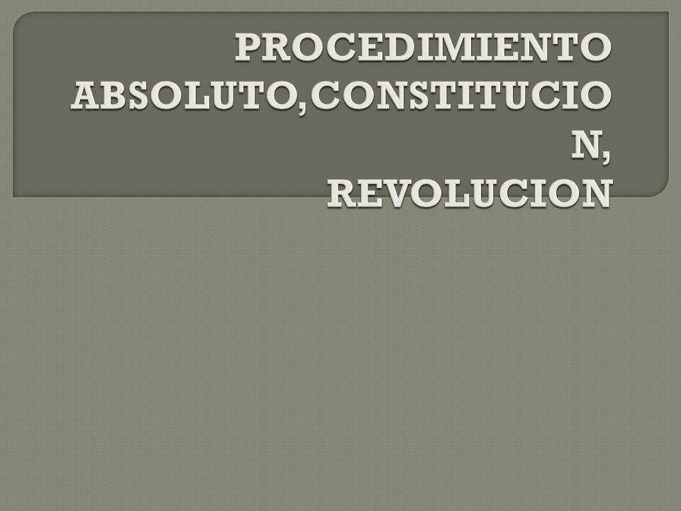 PROCEDIMIENTO ABSOLUTO,CONSTITUCION, REVOLUCION
