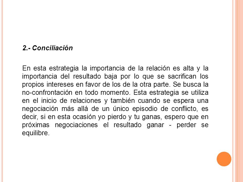 2.- Conciliación