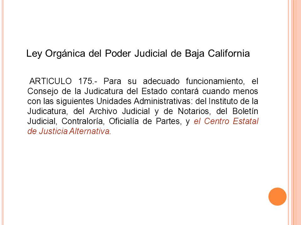Ley Orgánica del Poder Judicial de Baja California