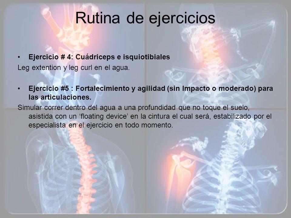 Rutina de ejercicios Ejercicio # 4: Cuádriceps e isquiotibiales