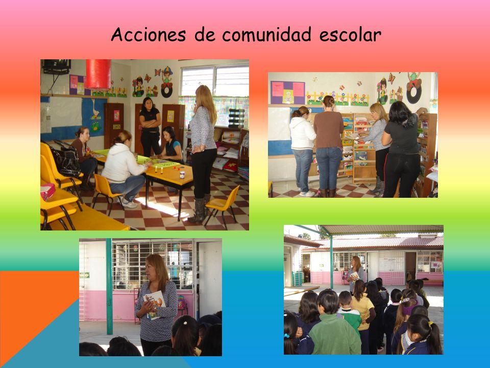 Acciones de comunidad escolar