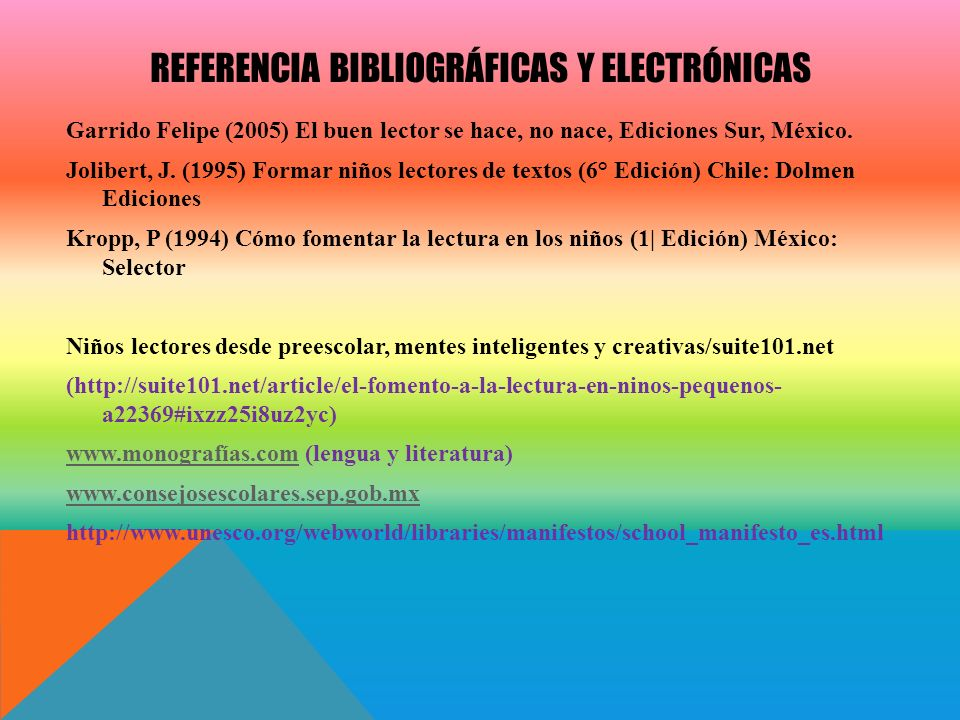 Referencia Bibliográficas y electrónicas
