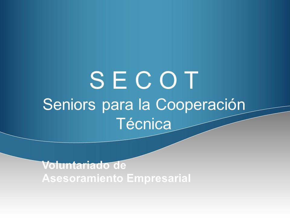 Seniors para la Cooperación Técnica