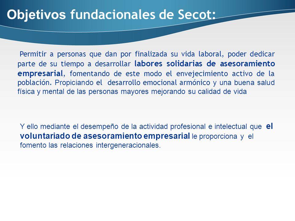 Objetivos fundacionales de Secot: