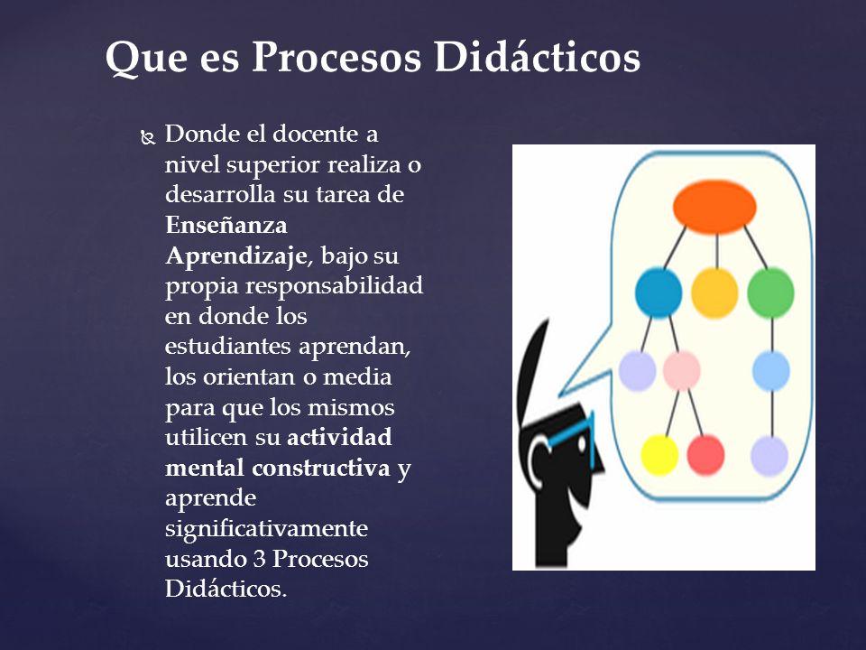 Que es Procesos Didácticos