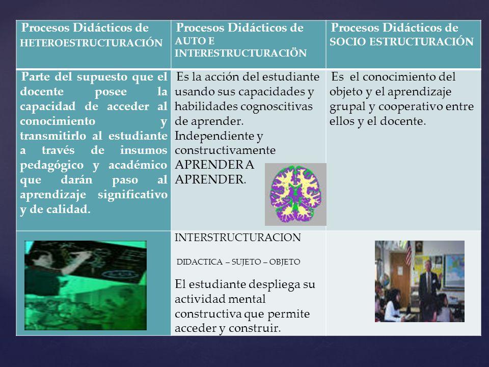 Procesos Didácticos de HETEROESTRUCTURACIÓN