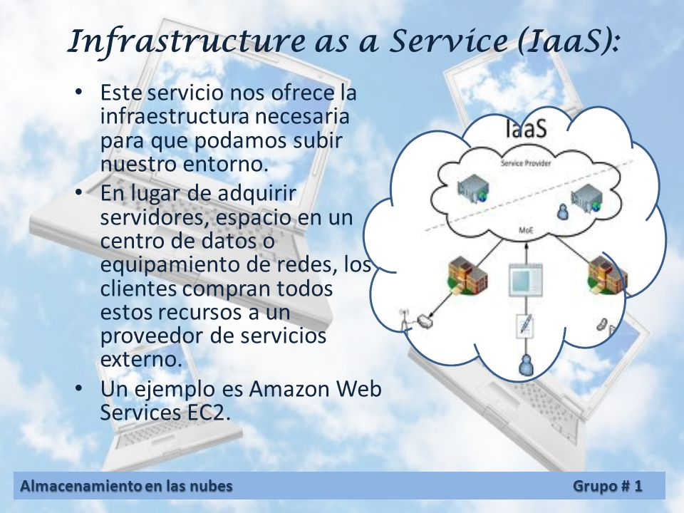 Infrastructure as a Service (IaaS):