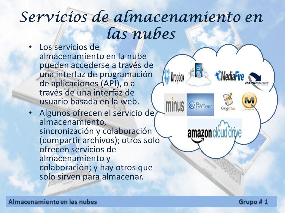 Servicios de almacenamiento en las nubes