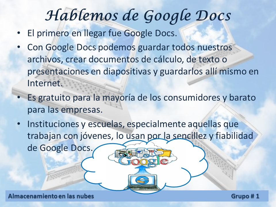 Hablemos de Google Docs