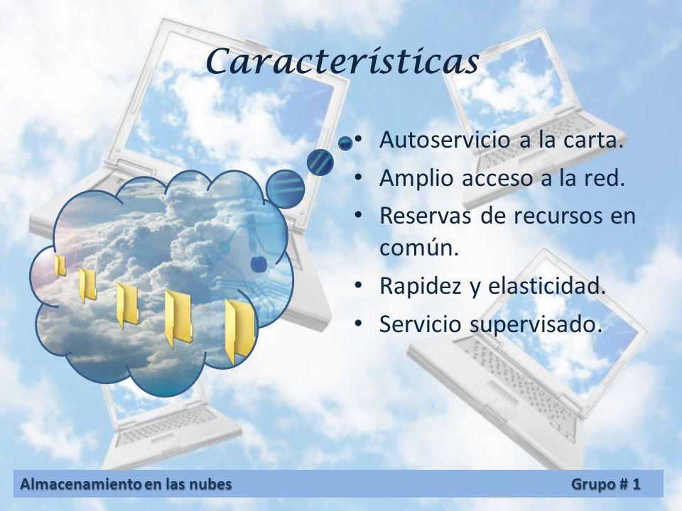 Características Autoservicio a la carta. Amplio acceso a la red.