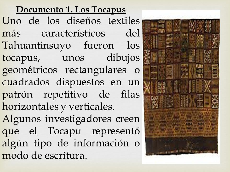 Documento 1. Los Tocapus