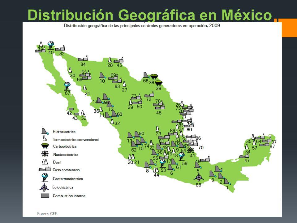 Distribución Geográfica en México