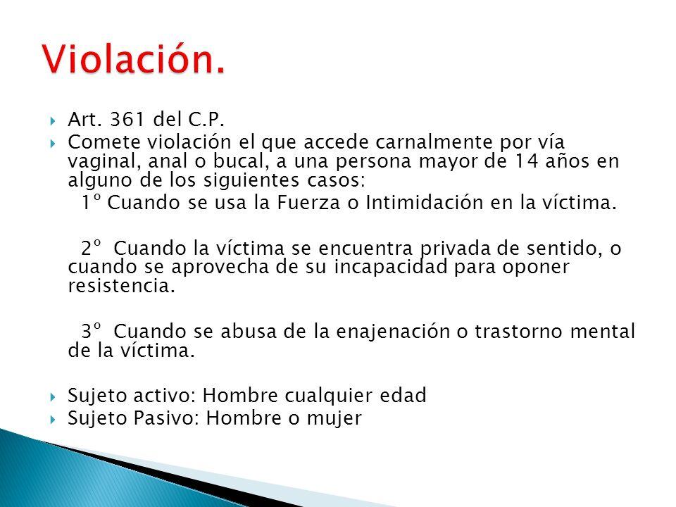 Violación. Art. 361 del C.P.