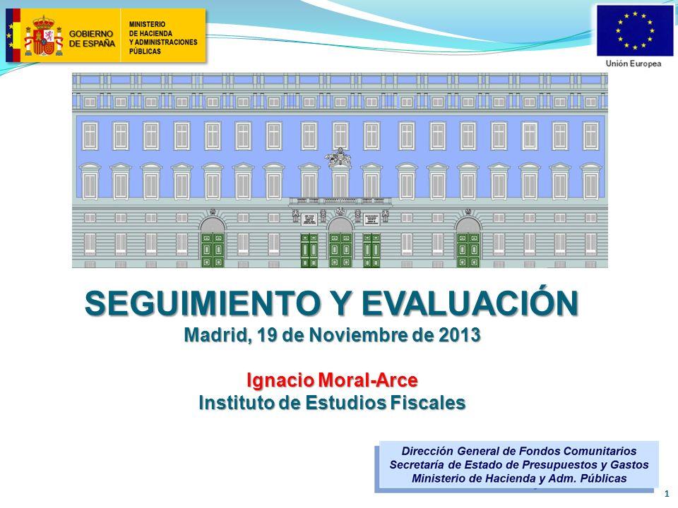 SEGUIMIENTO Y EVALUACIÓN Instituto de Estudios Fiscales