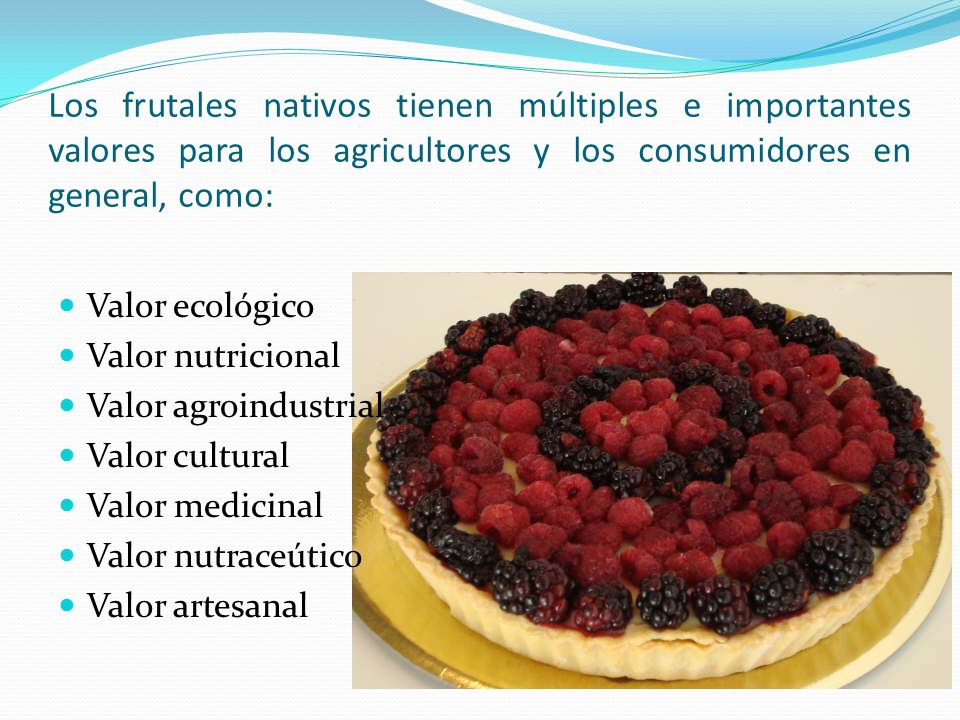 Los frutales nativos tienen múltiples e importantes valores para los agricultores y los consumidores en general, como: