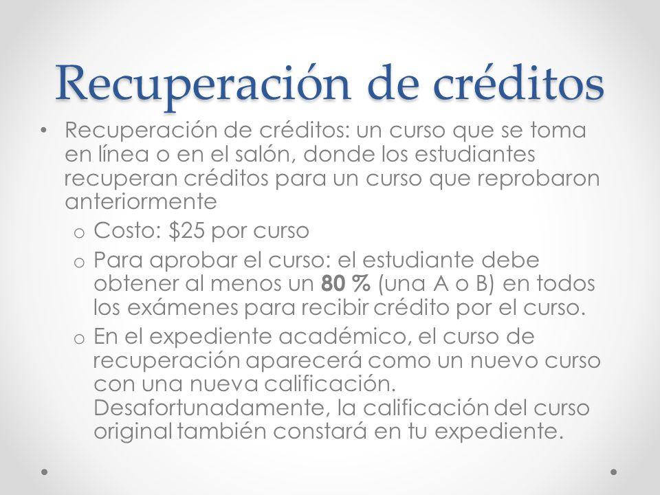 Recuperación de créditos