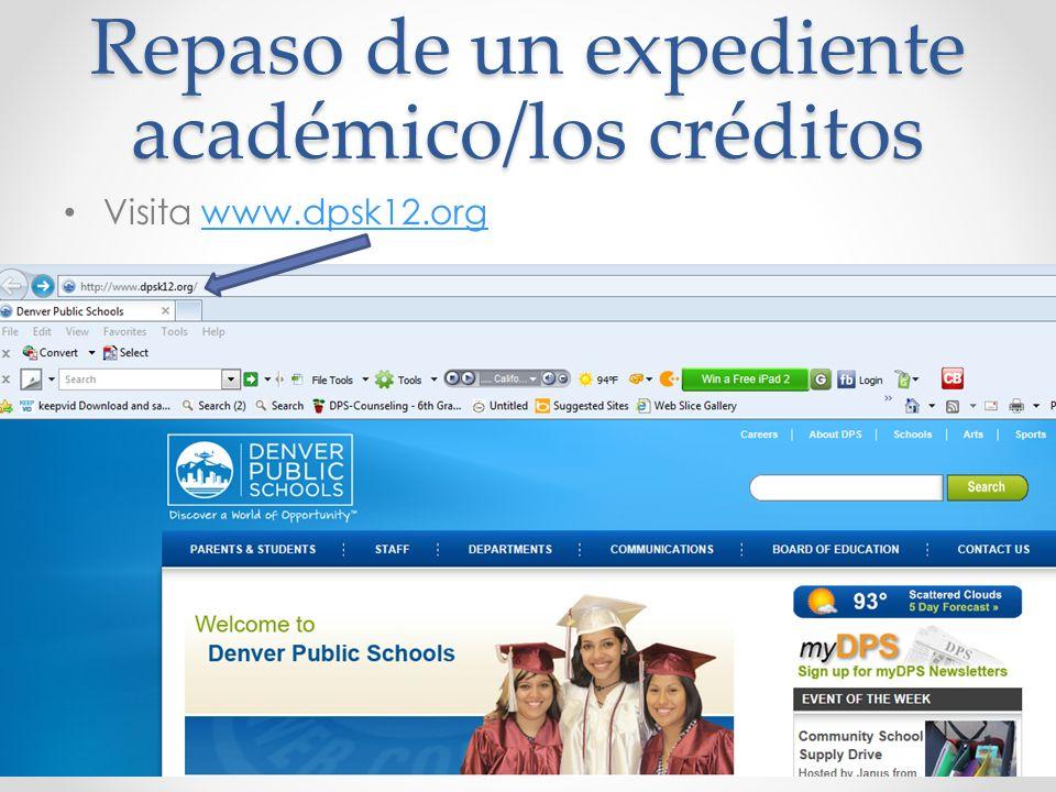 Repaso de un expediente académico/los créditos
