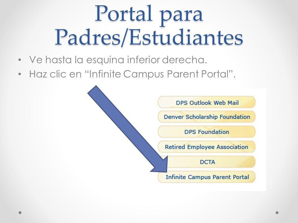 Portal para Padres/Estudiantes