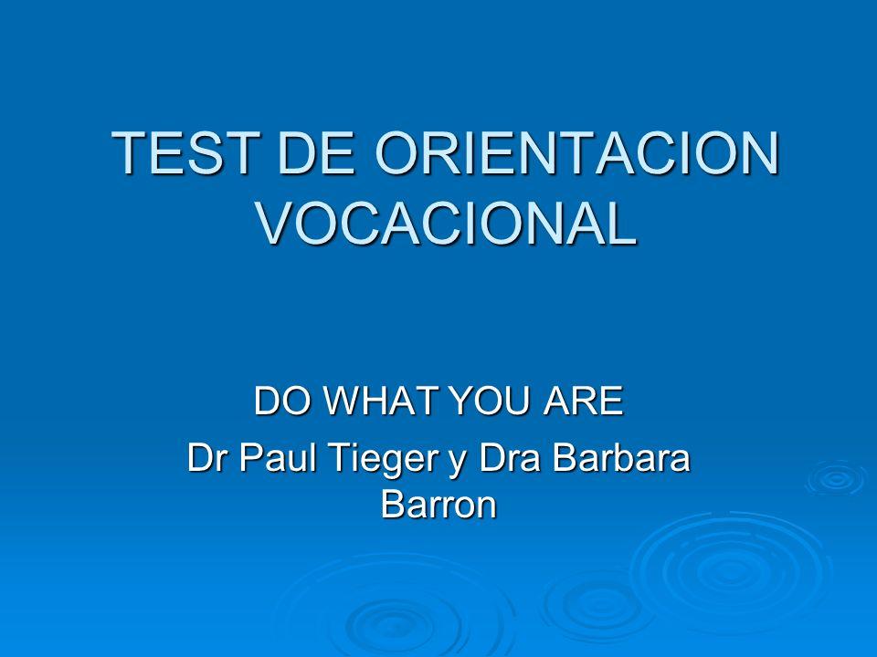 TEST DE ORIENTACION VOCACIONAL