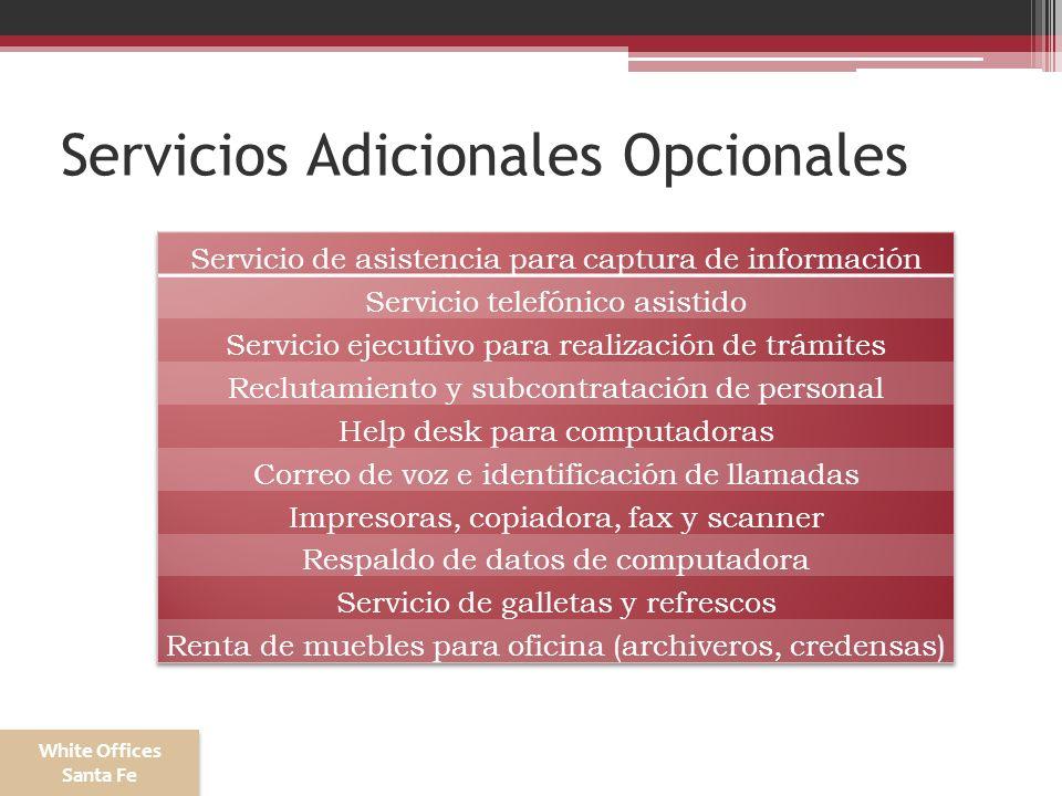 Servicios Adicionales Opcionales