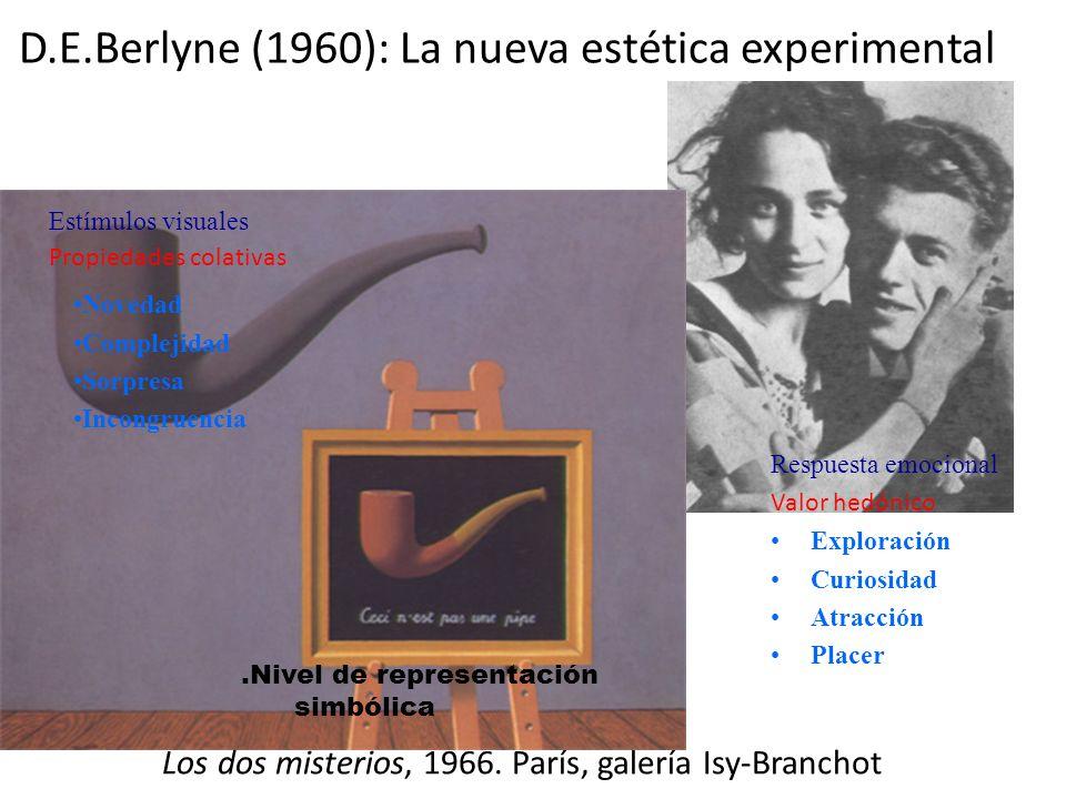 D.E.Berlyne (1960): La nueva estética experimental