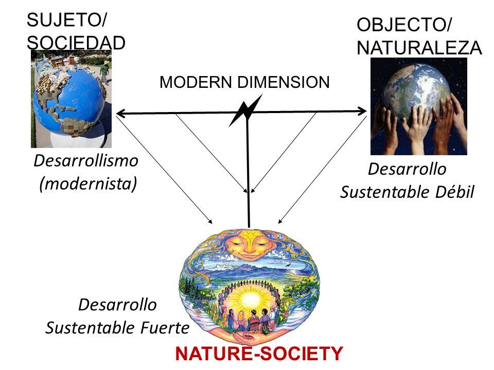  SUJETO/ OBJECTO/ SOCIEDAD NATURALEZA Desarrollismo