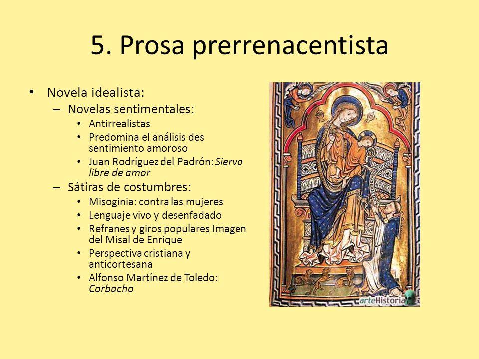 5. Prosa prerrenacentista