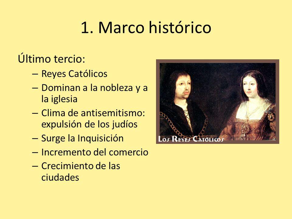 1. Marco histórico Último tercio: Reyes Católicos