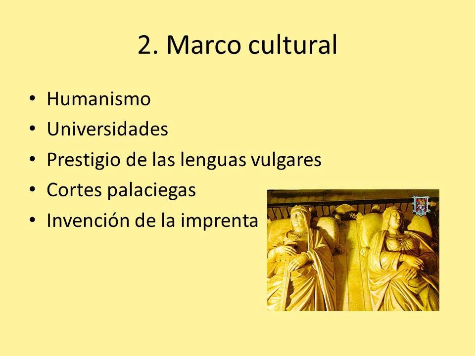 2. Marco cultural Humanismo Universidades