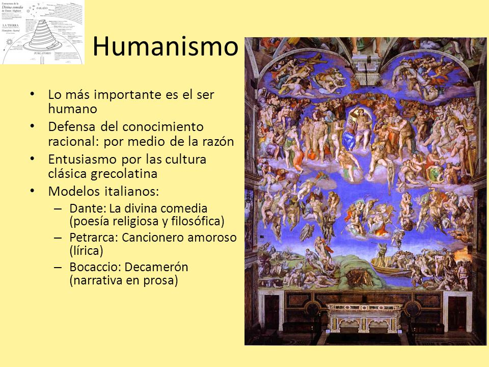 Humanismo Lo más importante es el ser humano