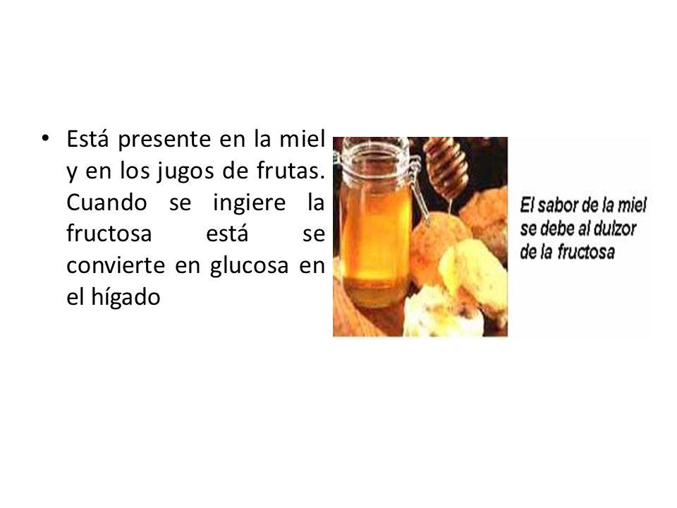 Está presente en la miel y en los jugos de frutas