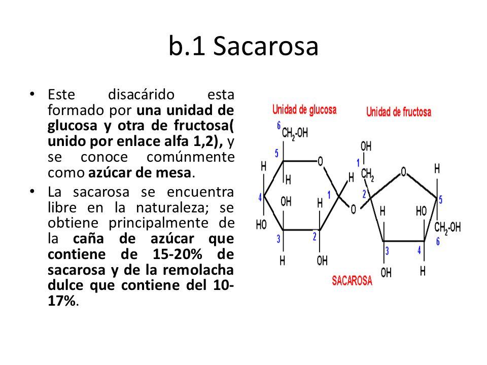 b.1 Sacarosa