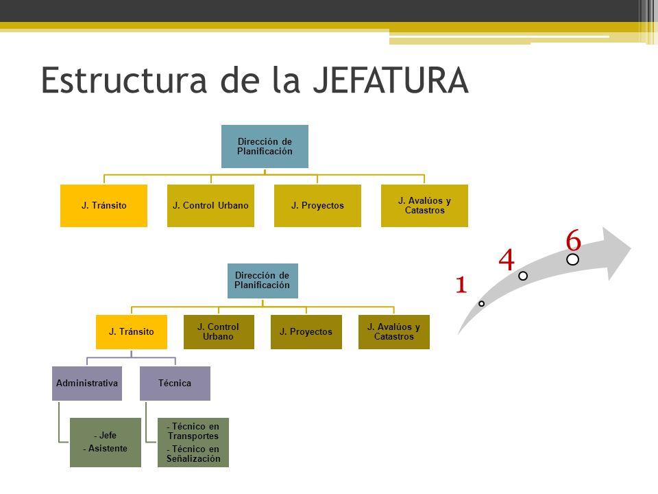 Estructura de la JEFATURA