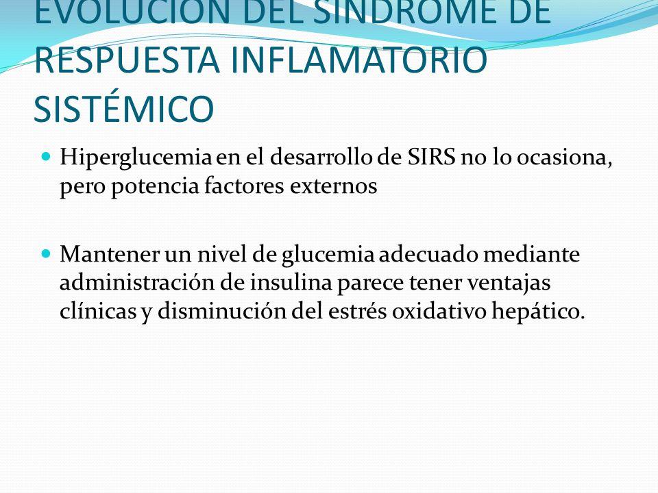 EVOLUCIÓN DEL SÍNDROME DE RESPUESTA INFLAMATORIO SISTÉMICO
