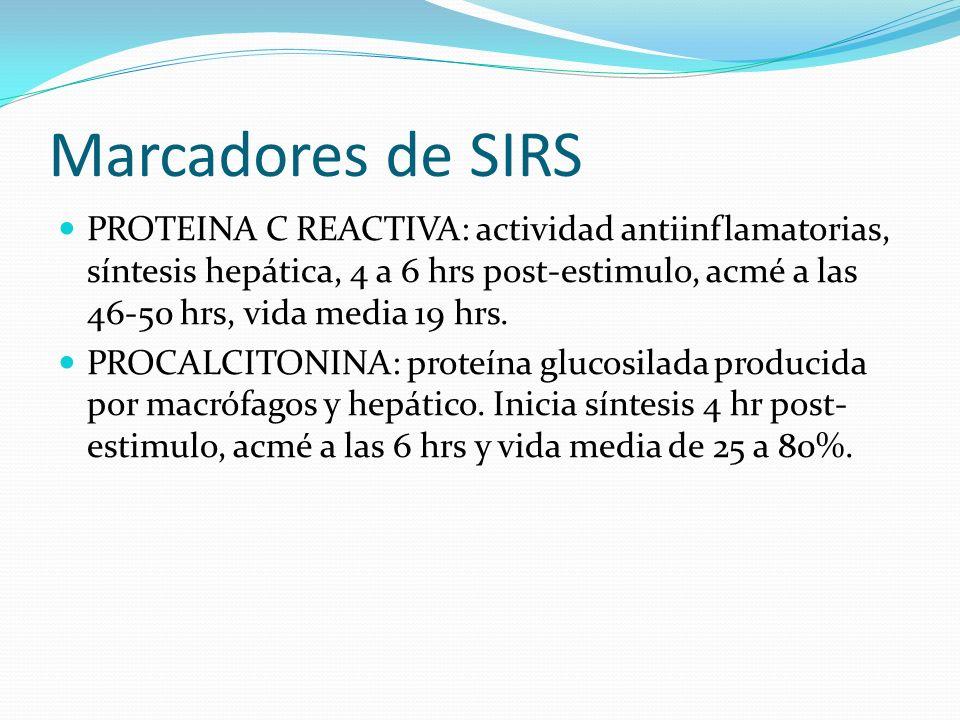 Marcadores de SIRS