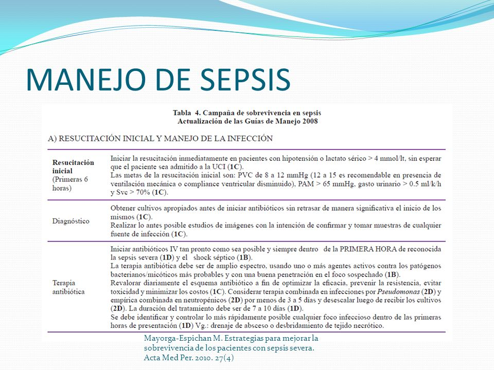 MANEJO DE SEPSIS Mayorga-Espichan M.