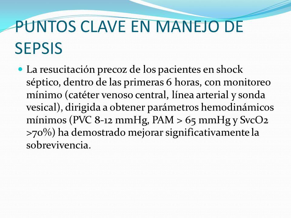 PUNTOS CLAVE EN MANEJO DE SEPSIS