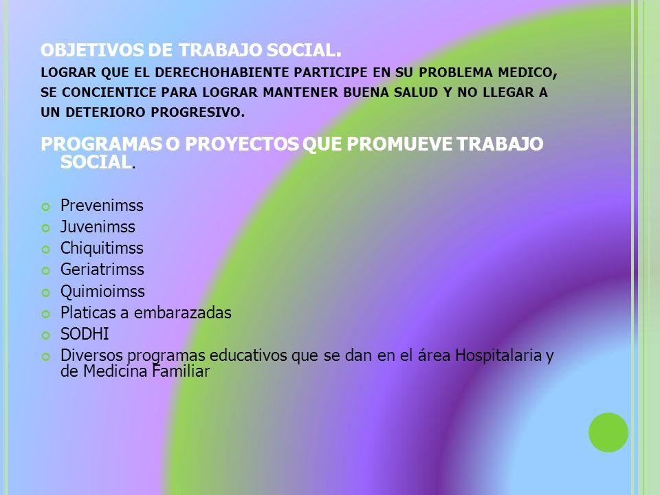 objetivos de trabajo social