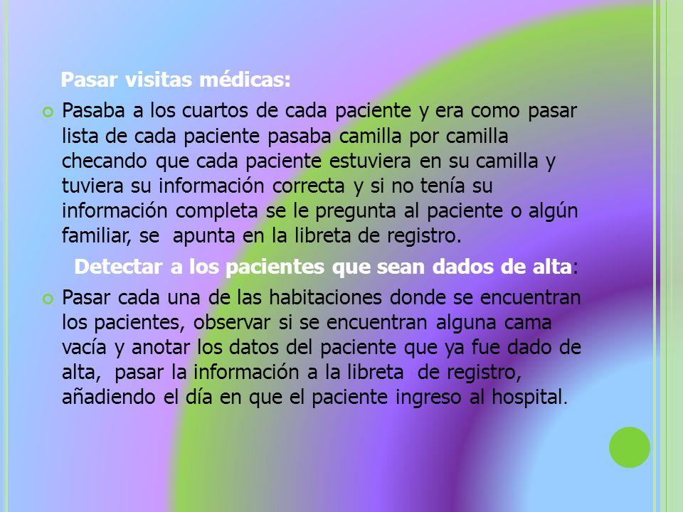 Pasar visitas médicas: