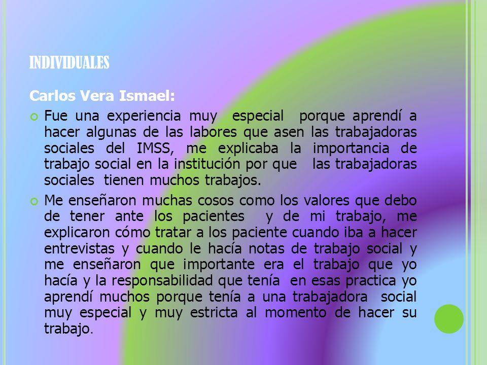 individuales Carlos Vera Ismael: