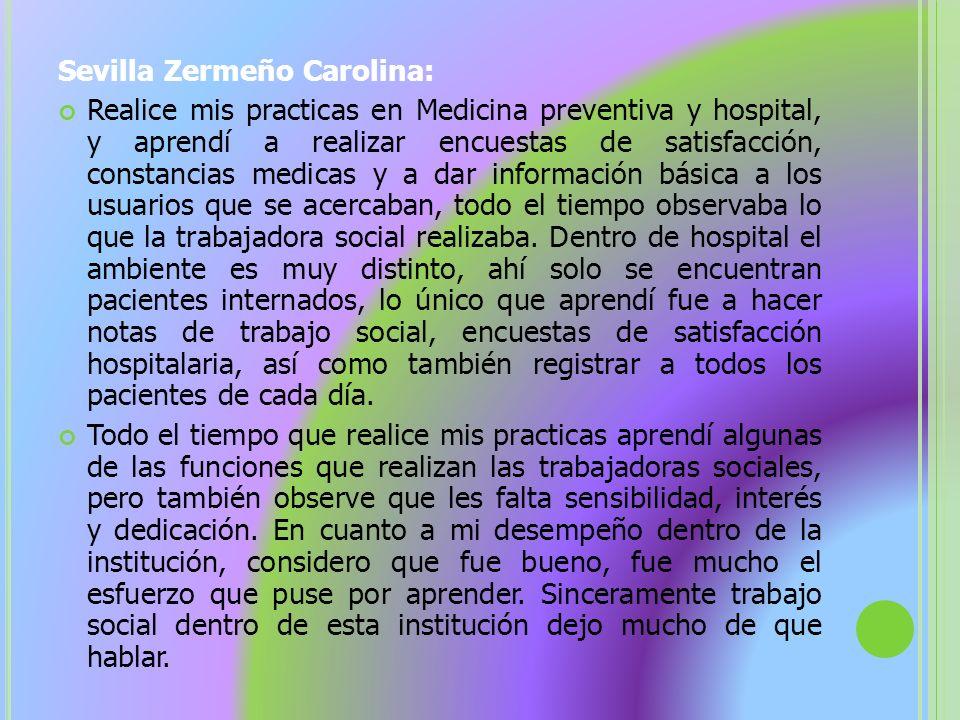Sevilla Zermeño Carolina: