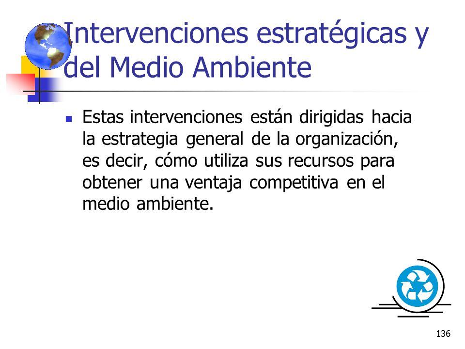 Intervenciones estratégicas y del Medio Ambiente