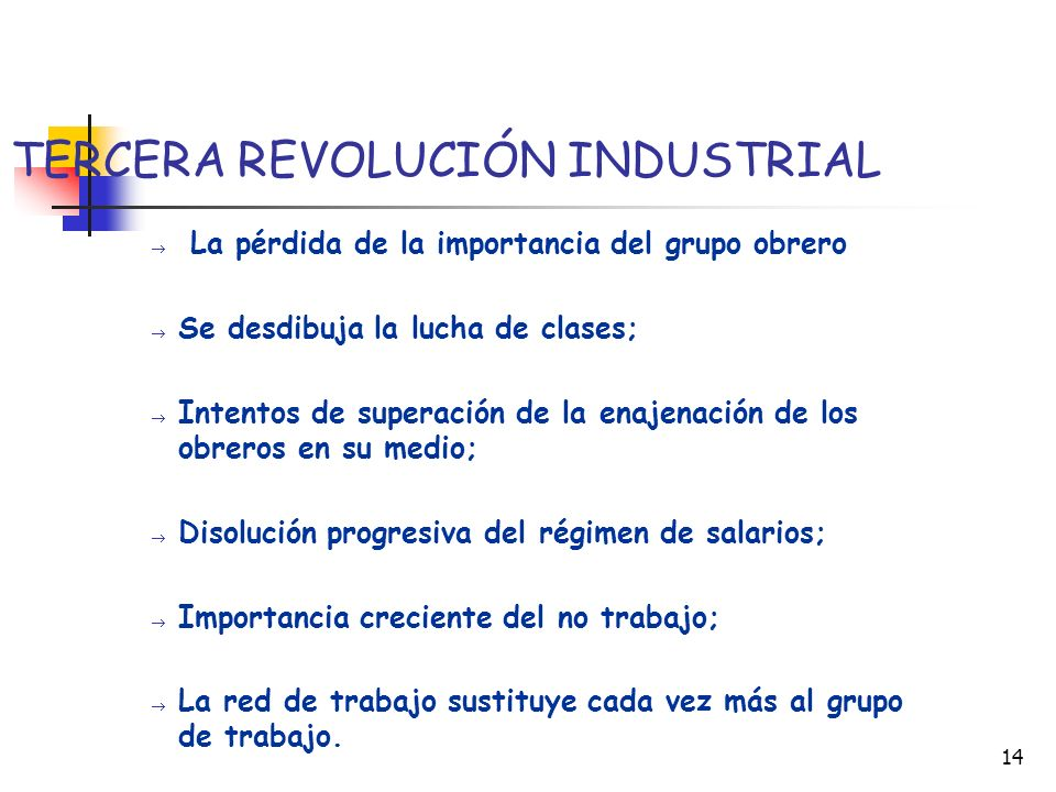 TERCERA REVOLUCIÓN INDUSTRIAL